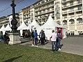 Quai du Mont-Blanc (Genève) - installations relatives à une course à pied.JPG