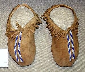 Quapaw - Quapaw moccasins, ca. 1900, Oklahoma History Center