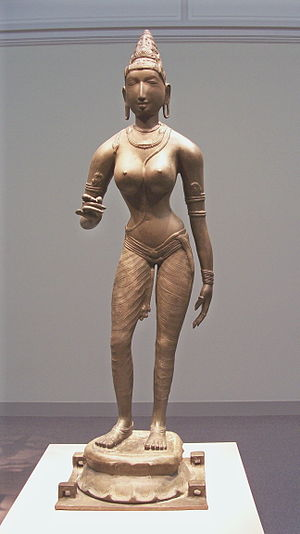 Chola art - Chola bronze of Queen Sembiyan Mahadevi as the Goddess Parvati