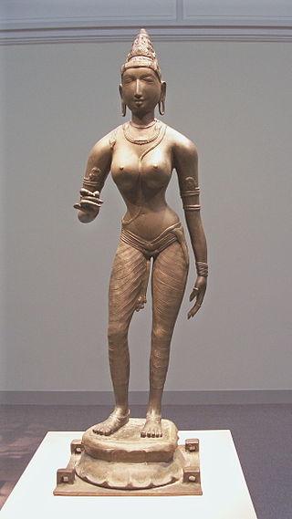 Queen Sembiyan Mahadevi as the Goddess Parvati (915582657).jpg