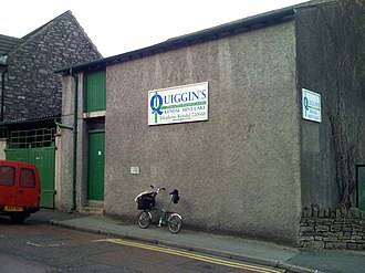 Kendal Mint Cake - Quiggin's factory on Low Fellside, in Kendal, England.