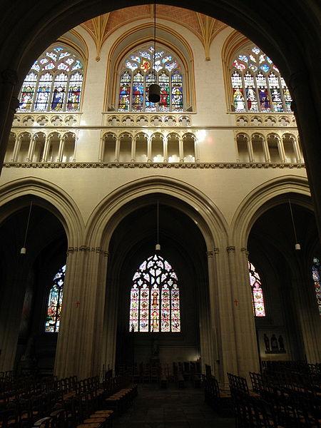 Élévation de la nef de la cathédrale Saint-Corentin de Quimper (29).