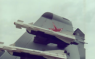 R-60 (missile) - Two R-60 missiles mounted on a MiG-29K