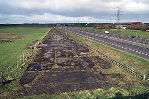 RAF Burtonwood - The last part of the old main runway (now covered by junction 8)