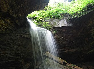 Raccoon Creek State Park - A waterfall at Raccoon Creek State Park