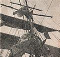 RI Dewarutji crewman climbing the rigging, Sang Saka Melanglang Djagad, p57.jpg