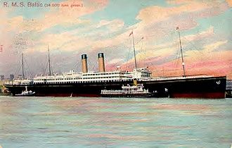Daniel Mannix - RMS Baltic, until 1905 the largest ship in the world, from which Archbishop Mannix was arrested and removed to prevent him landing in Ireland