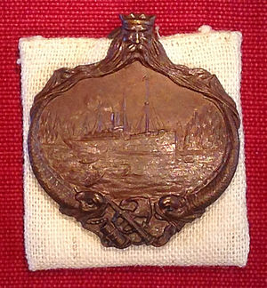 RMS Carpathia - Medal awarded to a Carpathia crew member for their part in the rescue of Titanic survivors