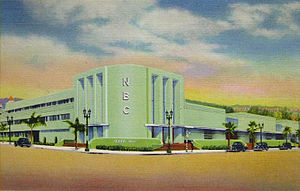 Radio City West was located at Sunset Boulevard and Vine Street in Los Angeles until it was replaced by a bank in the mid-1960s. Radio City West.JPG