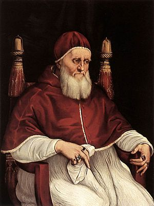 Portrait of Pope Julius II - The Uffizi version