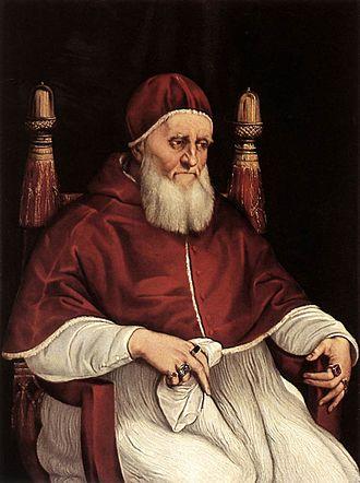 Portrait of Pope Julius II - The Uffizi version