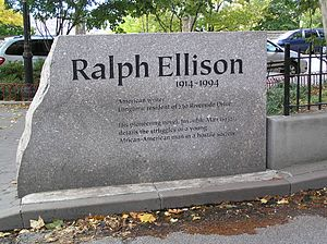 Ralph Ellison - Ralph Ellison monument in front of 730 Riverside Drive