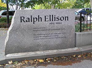 Ralph Ellison - Ralph Ellison monument in front of 730 Riverside Drive