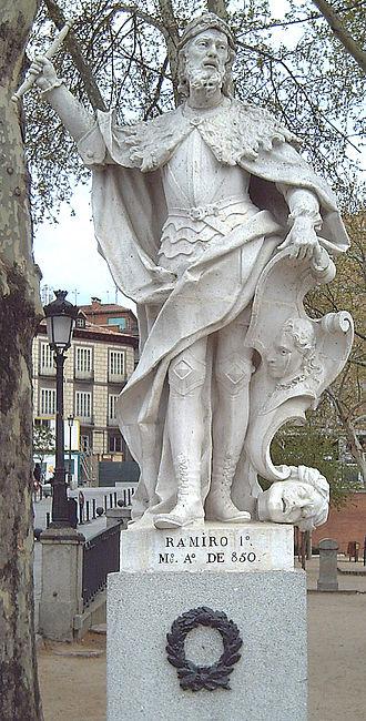 Ramiro I of Asturias - 18th-century Statue in the Royal Palace of Madrid