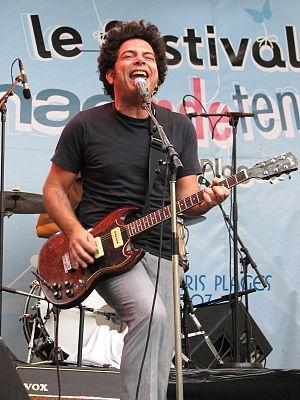 Izabo - Ran Shem-Tov, lead singer and guitarist of Izabo, in concert in Paris, August 18, 2007