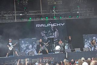 Raunchy (band) metal band from Denmark