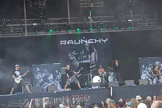 Raunchy (band) - Raunchy performing at With Full Force 2009.