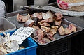Raw fish sold on a sidewalk in Shanghai 20120602 1.jpg