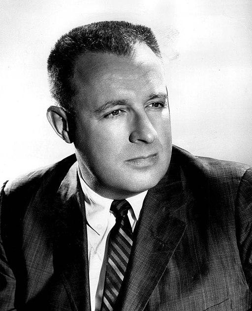 "Ray Bradbury publicity photo.  Copyright 1959.  ""The Twilight Zone."""
