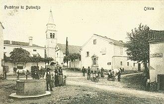 Dutovlje - Image: Razglednica Dutovelj 1909