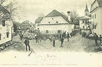 Koče, Postojna - 1900 postcard of Koče