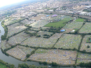 Culture of Reading, Berkshire - Aerial view of Reading Festival 2007