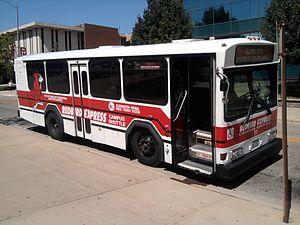 Connect Transit - Gillig Phantom serving the Redbird Express service.