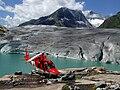 Rega helicopter on Aletsch Glacier.jpg