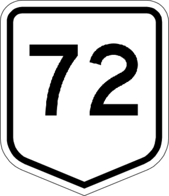 New Zealand State Highway 77 - Image: Regional Route 72 NZ
