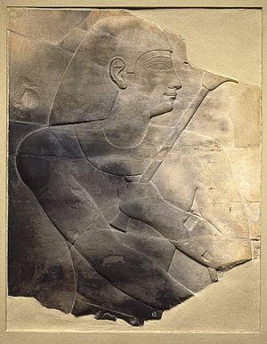 Twenty-fifth Dynasty of Egypt - Image: Relief of a High Official, ca. 670 650 B.C.E. 1996.146.3
