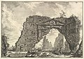 Remains of a covered portico, or a cryptoporticus, in a villa of Domitian, five miles outside Rome on the Frascati road, from Vedute di Roma (Roman Views) MET DP828212.jpg