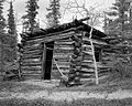 Remains of trapline cabin near Watson River, Yukon (17177145189).jpg