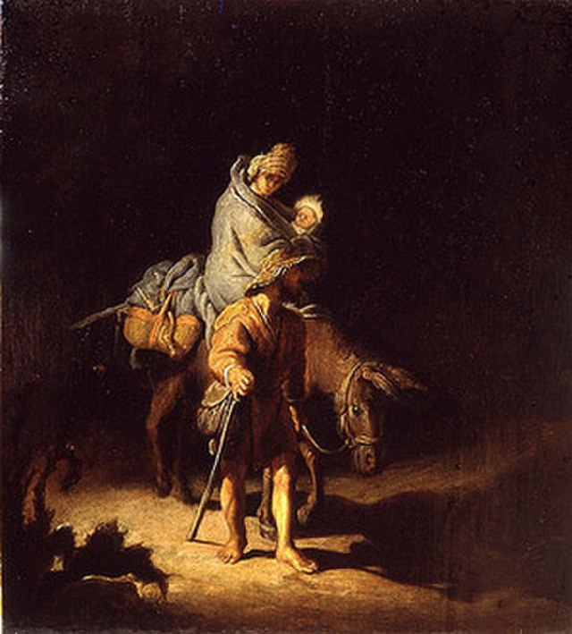 Rembrandt The Flight into Egypt (Tours)