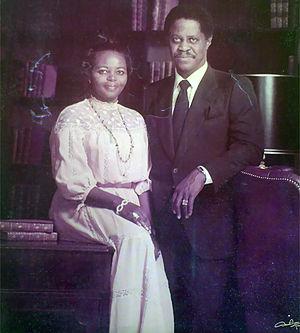 Remi Fani-Kayode - Chief Remilekun Fani-Kayode and his wife Chief (Mrs.) Adia Fani-Kayode in 1975
