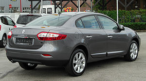 Renault Fluence - Rear view