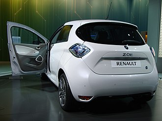 CAC 40 - Renault Zoe, a five-door supermini electric car manufactured by Renault.