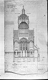 reproductie van tekening in st.nicolaaskerk - amsterdam - 20013635 - rce