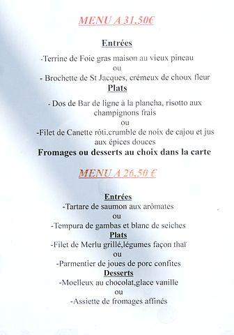 Menus Restaurant L Ermitage St Cyr Au Mpont D Or