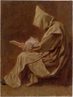 Restout - Seated Carthusian Holding an Open Book