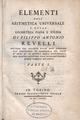 Revelli - Elementi dell'aritmetica universale e della geometria piana e solida, 1778 - 578390.tif