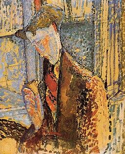 Reverie (Study for the Portrait of Frank Burty Haviland) by Amedeo Modigliani, 1914