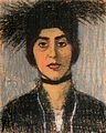 Rippl Woman Wearing Hat with Black Ostrich Feather.jpg