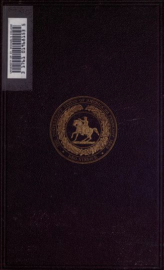 The Rise and Fall of the Confederate Government - Cover of the first edition