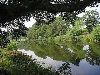 River Teviot river in Scotland