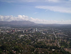 Skyline of Riverside, California