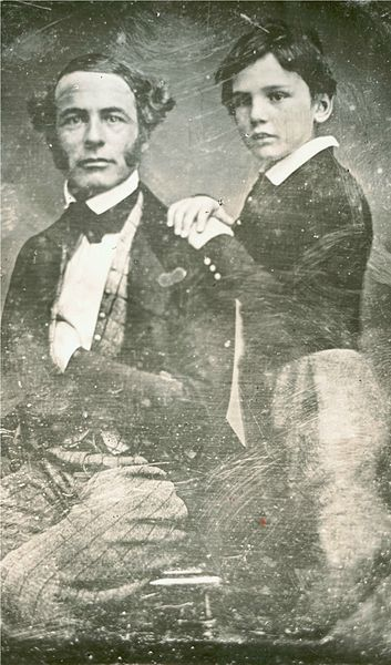 Robert E. Lee, around age 38, and his son William Henry Fitzhugh Lee, around age 8, c.1845
