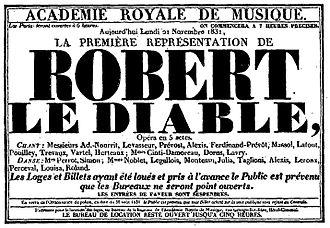 Robert le diable - Image: Robert le Diable (Meyerbeer) 1831