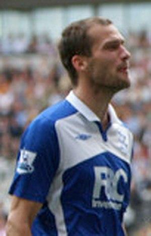 Roger Johnson (footballer) - Playing for Birmingham, September 2009