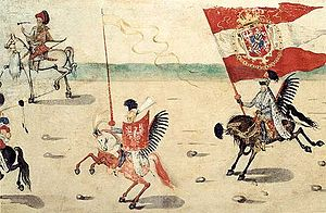 History of Kraków - Polish Hussars during entry into Kraków in 1605