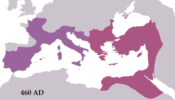 Roman Empire 460 AD